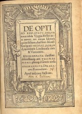 Opening page from 1518 edition of Utopia