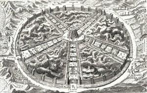 Illustration in the Civitas Veri, or City of Truth, by Bartolomeo Del Bene, 1609
