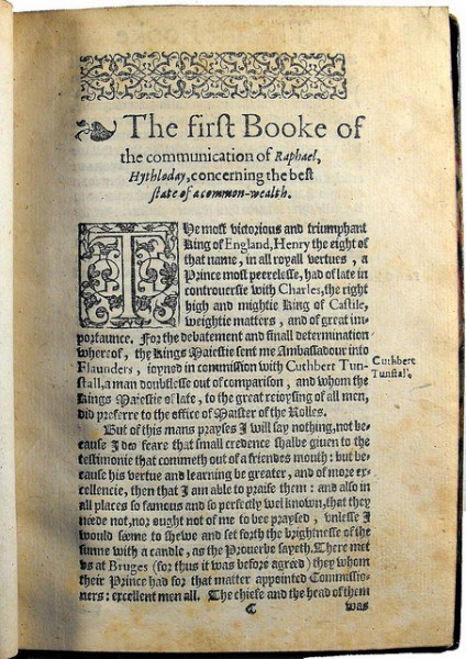 1597 Utopia first page