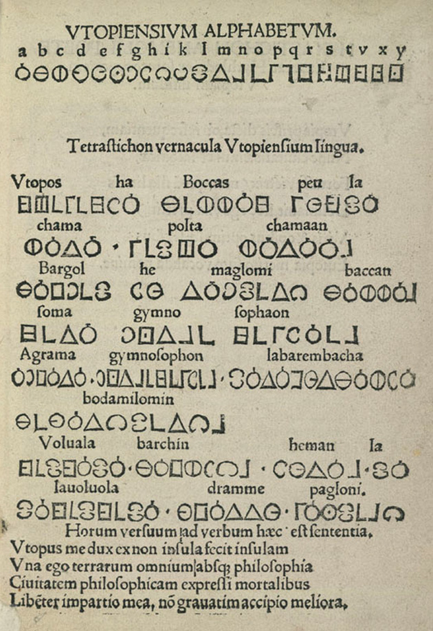 1516 Utopian Alphabet