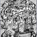Woodcut by Ambrosius Holbein for the 1518 edition of Thomas More's Utopia