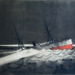The sinking of SS Utopia (March 17, 1891, the Bay of Gibraltar) by Ms. Georgina Smith.