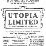 Theatre poster for the Australia premier of Gilbert and Sullivan's Utopia Limited, 1905