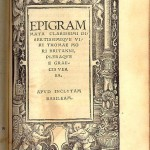 Epigram page from 1518 edition of Utopia